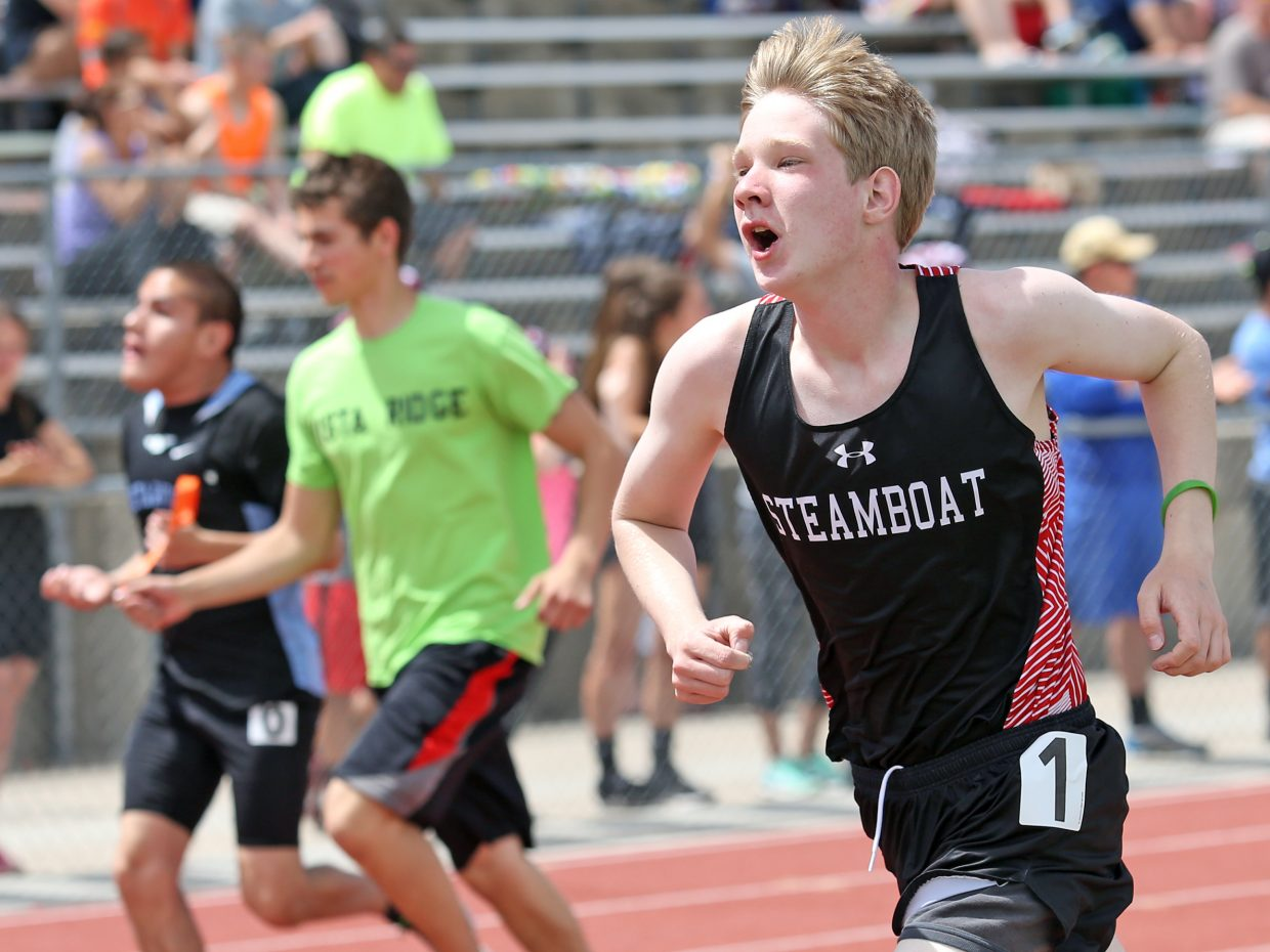 Steamboat Springs High School freshman Cade Rowan, right, competes in the 200-meter dash for unified athletes Friday during the state track and field meet at Jefferson County Stadium in Lakewood. Rowan was diagnosed with Asperger's Syndrome in the fifth grade.