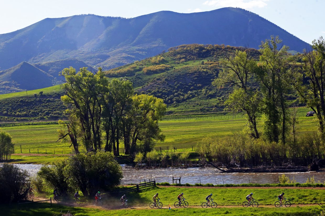 Under the shadow of The Sleeping Giant, bikers take to the course at Marabou Ranch Wednesday for the Marabou XC, the first race of the season in the Town Challenge Mountain Bike Series.