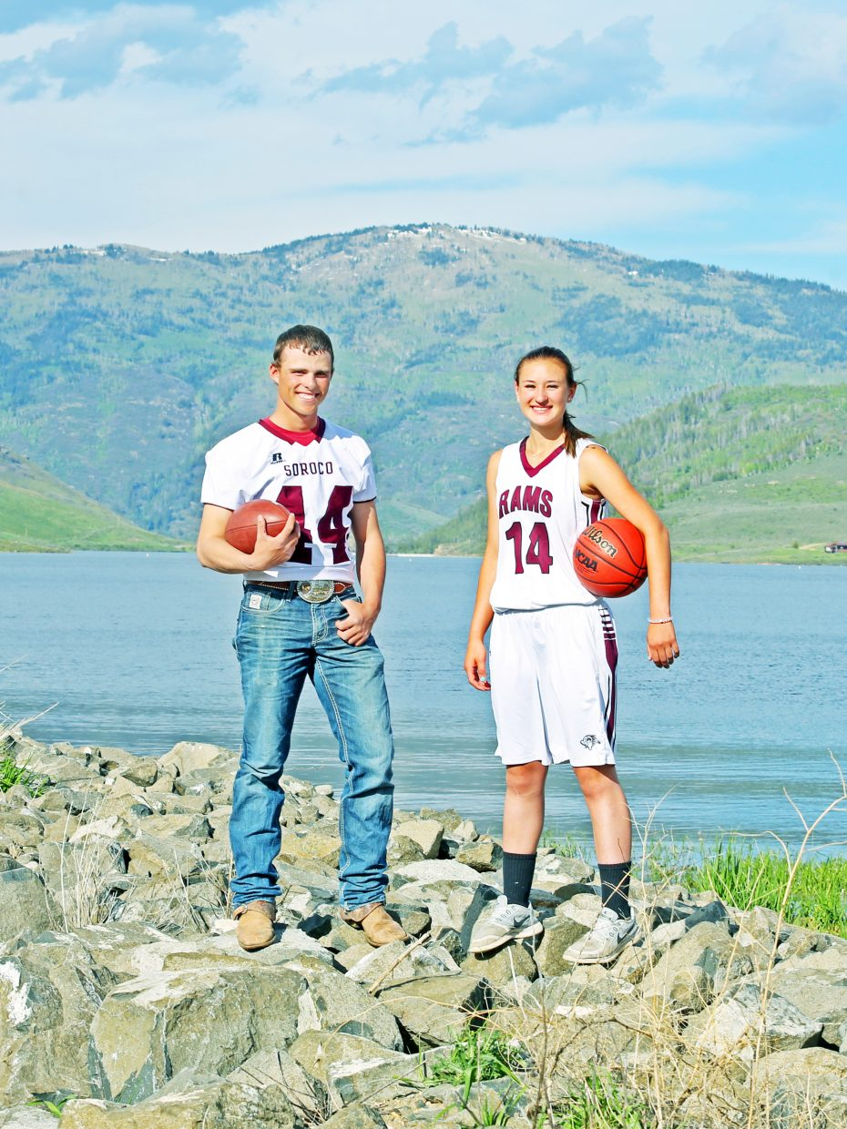 Soroco High School seniors Eric Logan, left, and Briana Peterson are the 2015-16 Routt County high school athletes of the year.
