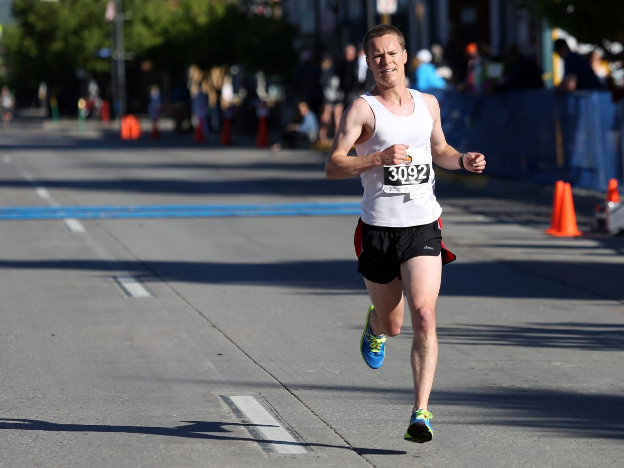 Steamboat Springs resident Watkins Fulk-Gray competes in Sunday's 10K race. He finished second.