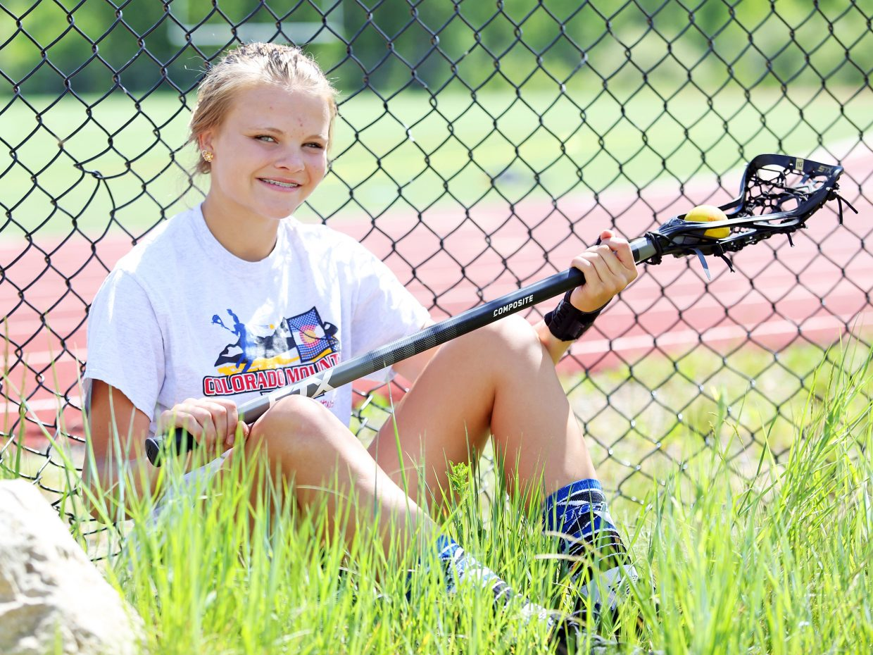 Lucy Shimek, who recently completed her freshman year at Steamboat Springs High School, was named honorable mention all-state in girls lacrosse after a remarkable first season with the Sailors.