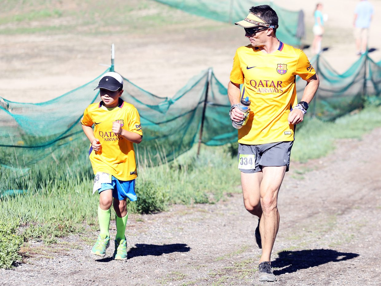 Runners compete in Saturday's Howelsen Hill Trail Run.
