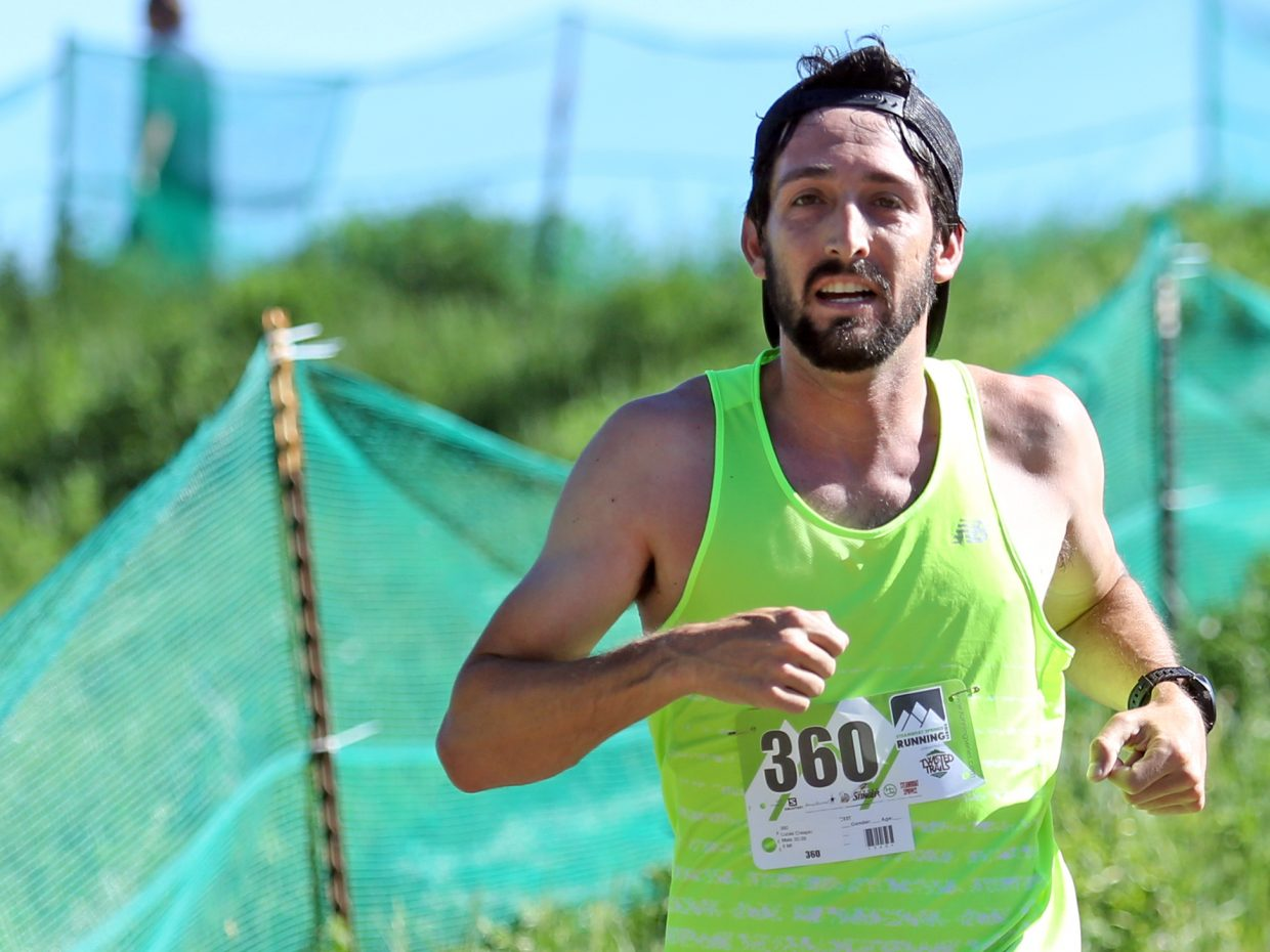Lucas Crespin competes in Saturday's Howelsen Hill Trail Run.