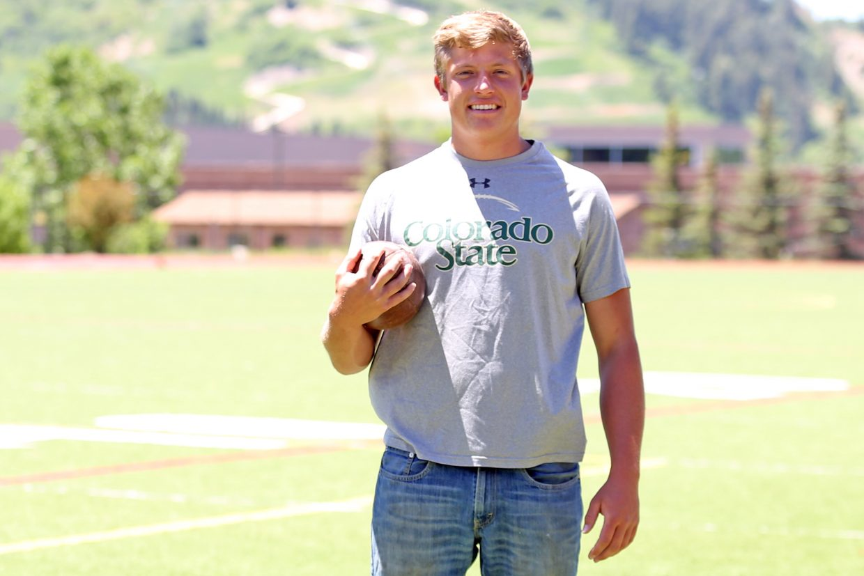 Joe DeLine, a 2016 Steamboat Springs High School graduate, is attempting to follow in the family footsteps and walk-on to the Colorado State University football team. He hopes to make the roster as a punter.