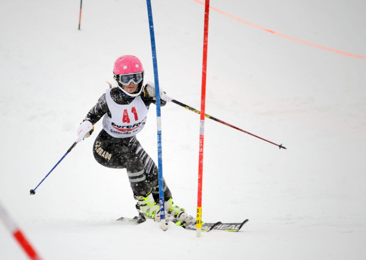 Katie Hostetler, a Steamboat Springs Winter Sports Club alum, finished 16th in Sunday's Surefoot Holiday Classic finale at Howelsen Hill. Hostetler now represents the University of Colorado.