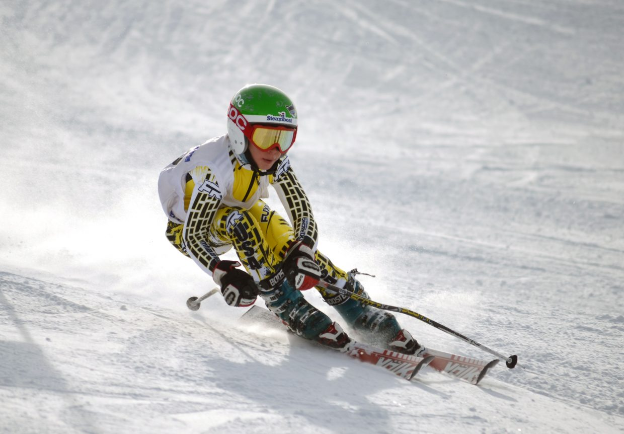 Cooper Puckett took first in the Steamboat Cup's U12 boys division with a winning run in 29.83 seconds.