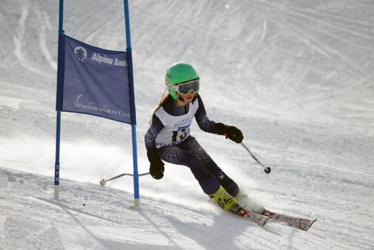 Ellie Blair, 10, was 10th in the U12 girls division in Saturday's Steamboat Cup.