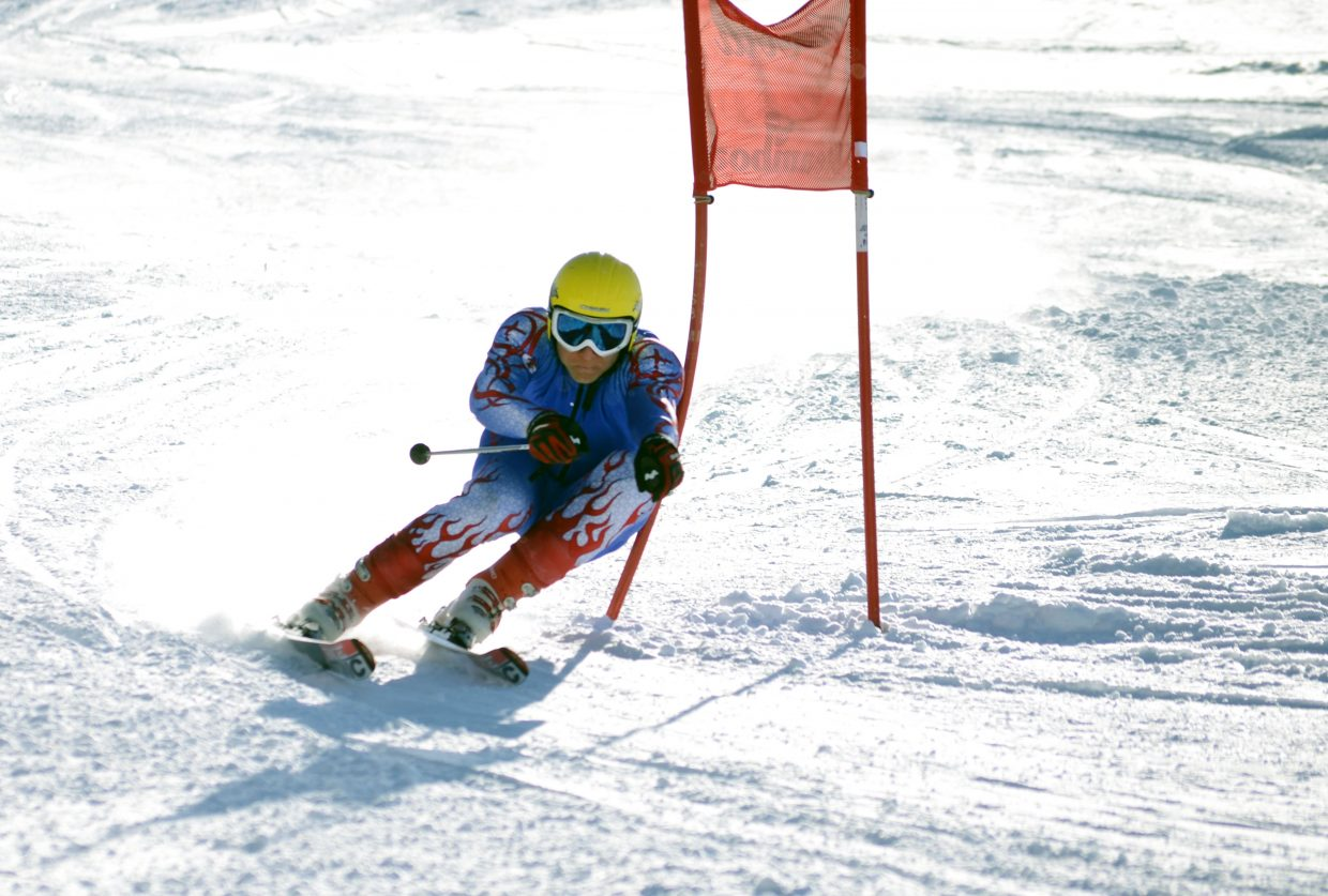 Brede Halsnes, 29, grabbed third in the men's giant slalom Sunday at the Town Challenge at Steamboat Ski Area's Bashor run.