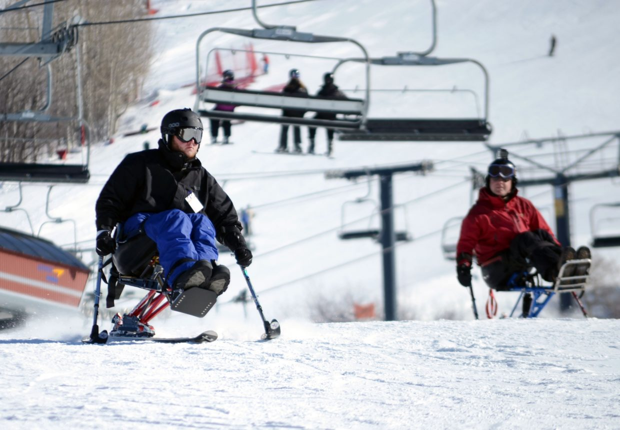 Steven Hancock was able to get into a sit-ski at the second annual STARS & Stripes Heroes Camp for the first time since severing his spine in April 2010.