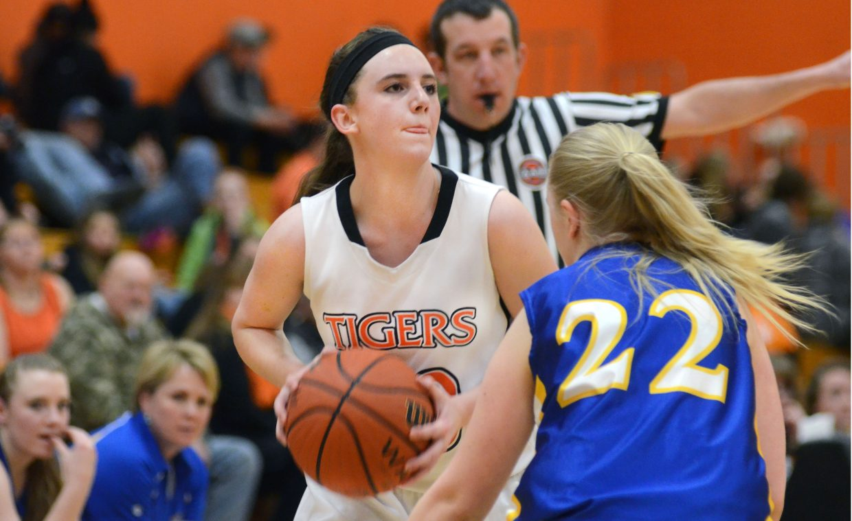 Hayden's Taylor Hagar scans the North Park defense in the first half of the Tigers' 33-26 win Saturday.