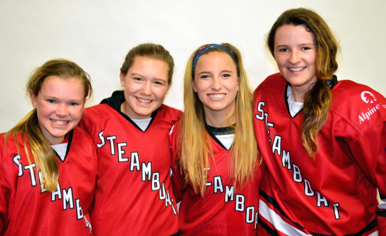 Steamboat girls youth hockey players Peyton Curley (U12), Maura Glynn (U14), Brooke Buchanan (U14) and Jensen Kavanaugh (U12) were all selected to their respective MSGHL All-League teams during the weekend at the league championships in Denver.