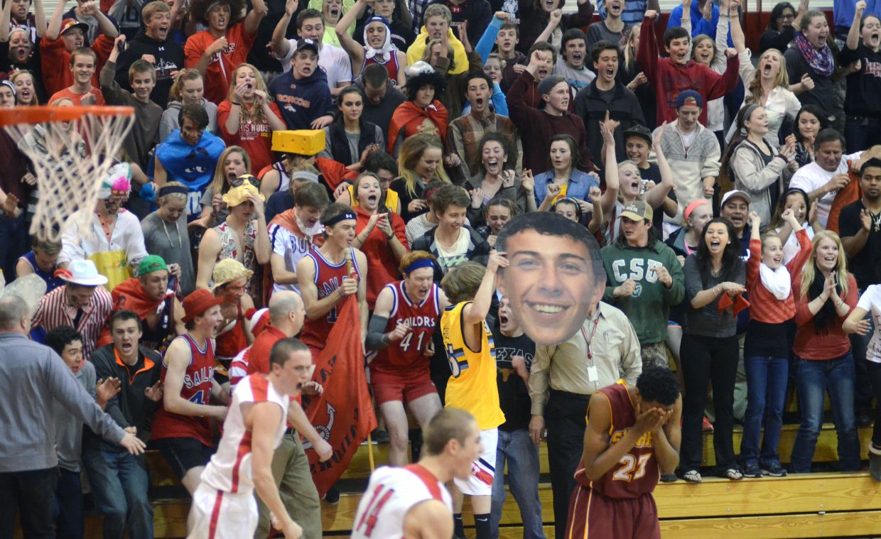 A packed and loud Kelly Meek Gymnasium erupted when Steamboat held on for a 40-38 double-overtime victory in the first round of the state playoffs.