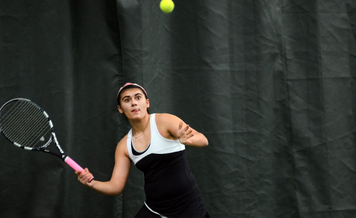 Steamboat sophomore No. 3 singles player Maddie Labor won in dominant fashion Saturday, 6-1, 6-0.