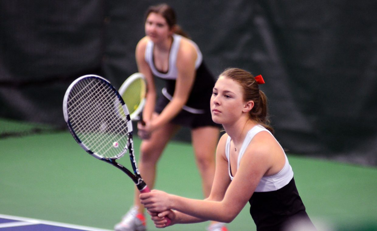 Steamboat No. 2 doubles team of Sabina Berend and Maddie Thompson won 6-3, 6-1.