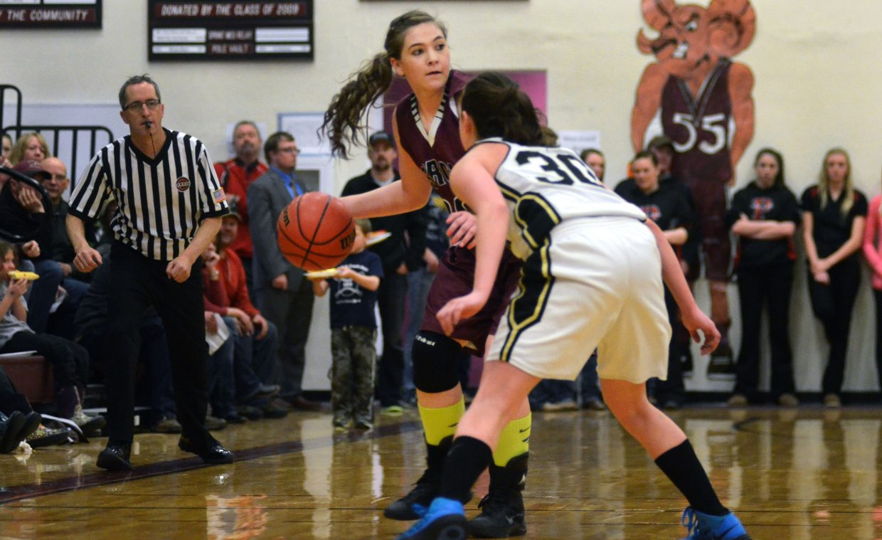 Soroco senior Jacey Schlegel and the Rams drew Sangre de Cristo as their first-round state playoffs opponent. The Rams will play Friday at Palisade High School.