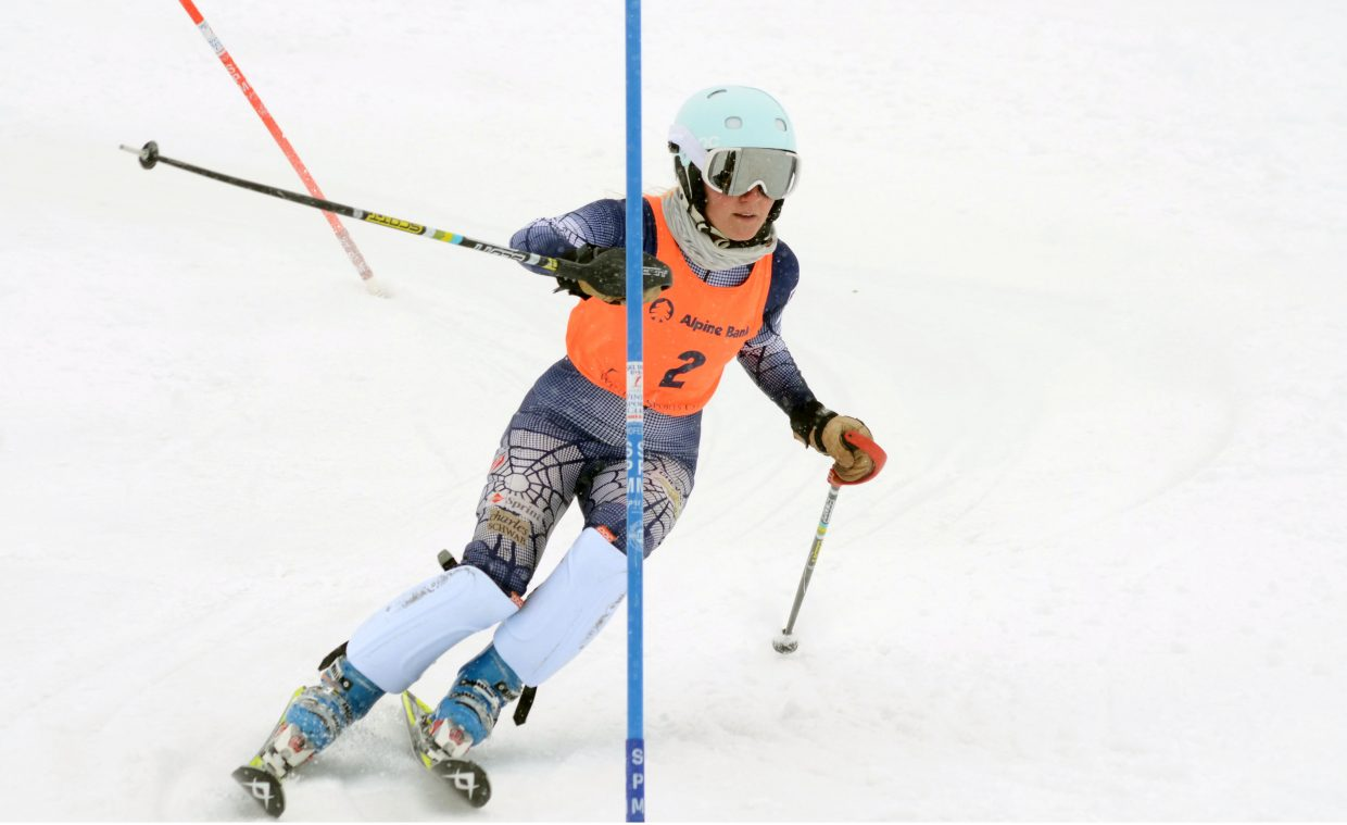 Steamboat's Sara Gezon was the top local finisher in Saturday's SmartWool Championships slalom race on Saturday at Howelsen Hill, placing second.