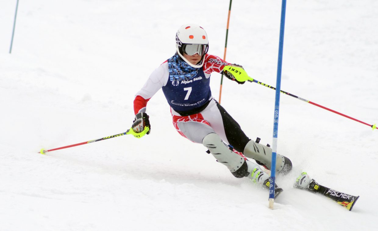 Jack Keane finished third overall in Saturday's slalom race as par of the SmartWool Championships at Howelsen Hill.