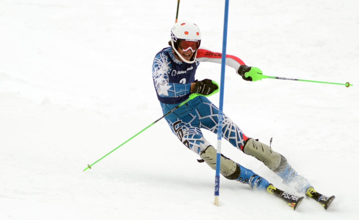 Aspen's Tristan Lane was the boys' top finisher Saturday at the SmartWool Championships slalom race. Lane used a two-run time of 1:23.61 for gold.
