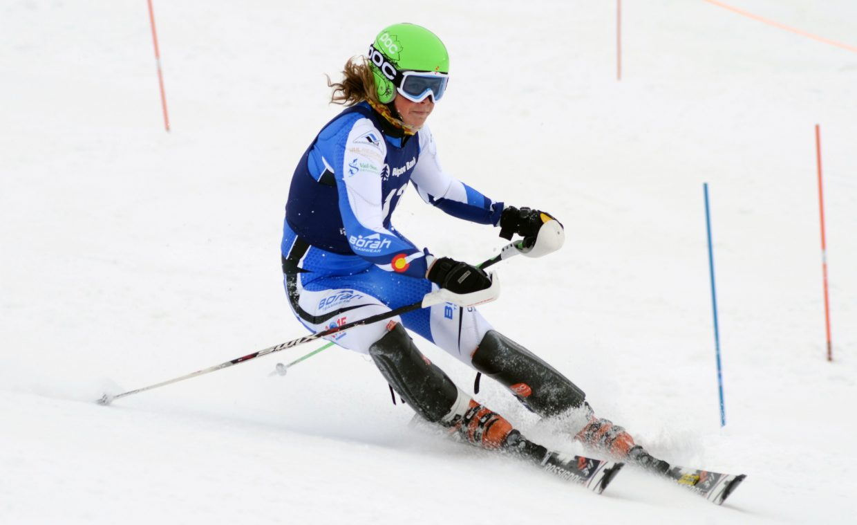 River Radamus, of the United States Training Academy, has deep Steamboat roots and returned to Howelsen on Saturday for the SmartWool Championships slalom race. Radamus slid in his first run, finishing 25th despite having one of the best second-run times of the day.