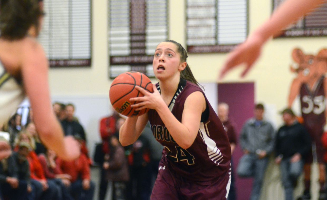 Soroco freshman DaKota Bruner was named first-team all-league after averaging 12.5 points per game in 2013-14. Also on the first team were teammates Jacey Schlegel and Jessica Rossi.