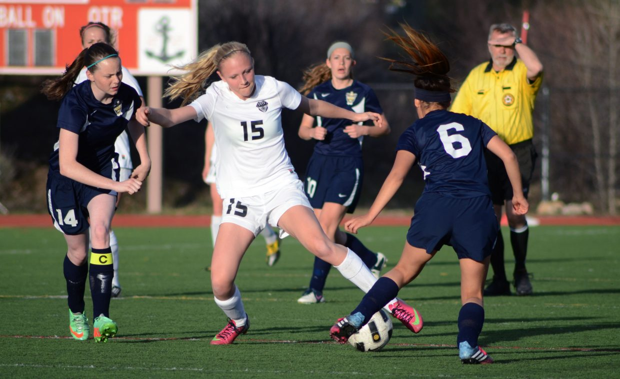 The lone freshman on Steamboat's varsity squad, Maggie Henry, 15, poured in the Sailors' final goal of the night, capping off a 7-0 trouncing of Rifle on Thursday.