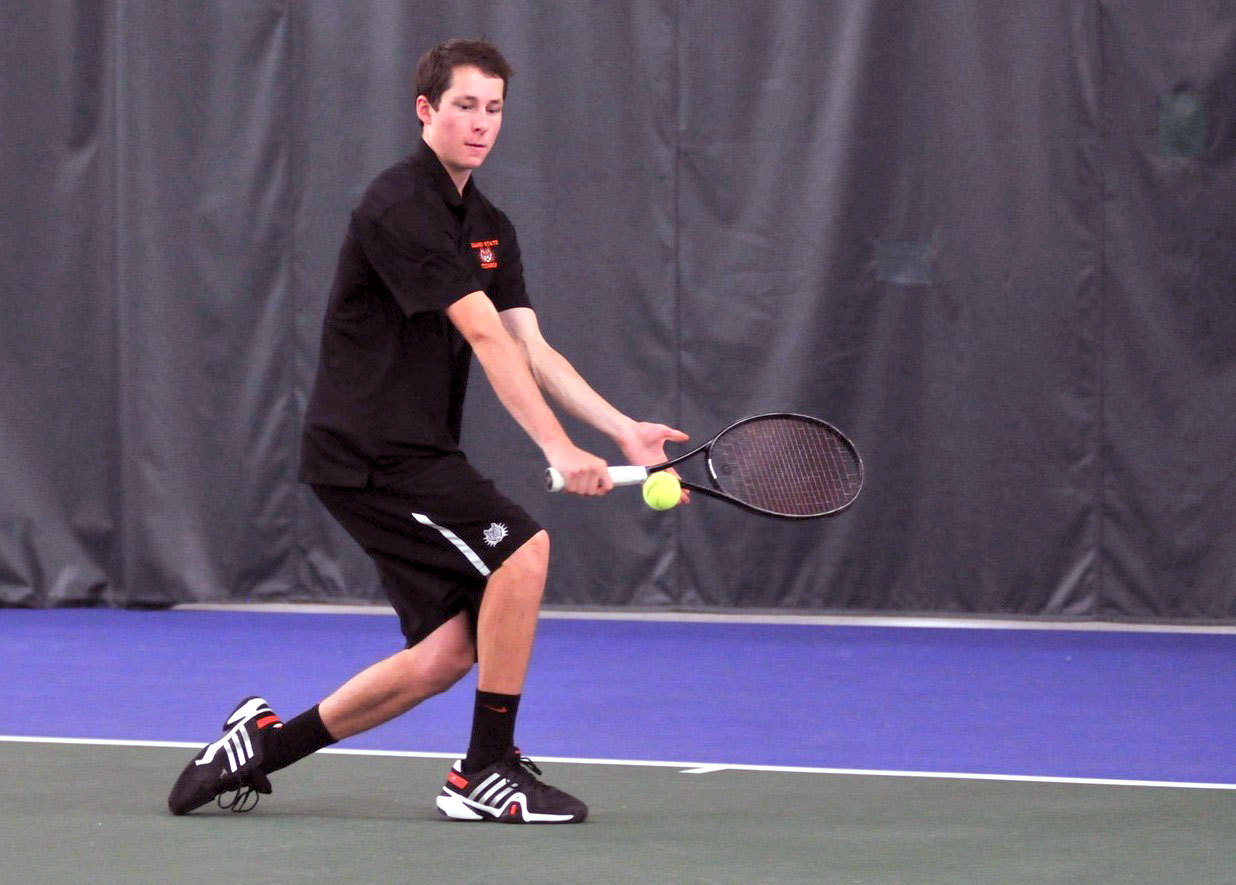 2012 Steamboat Springs High School graduate and tennis team alumnus Jamey Swiggart was bumped up from Idaho State's No. 5 singles player in 2013 to the Bengals' top performer this season. Swiggart wrapped up his sophomore season Sunday with a 9-8 record.