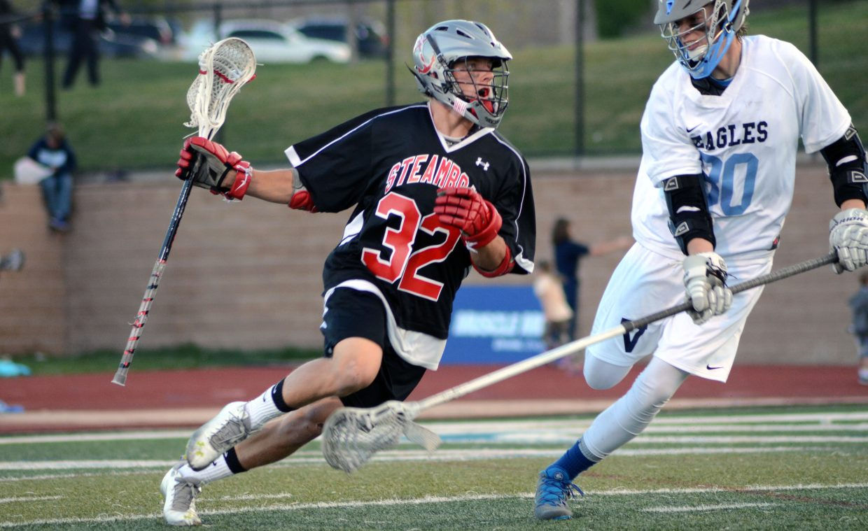Mitch McCannon races for a last-second shot before halftime of the Sailors' 14-8 win at Valor Christian to advance to Wednesday's Final Four.
