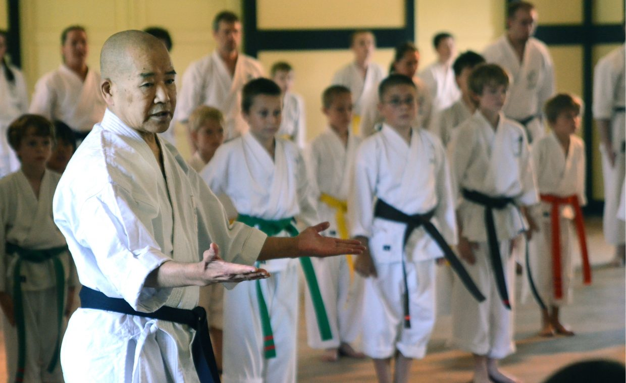 Karate legend Sensei Teruo Chinen made his 16th visit to Rocky Mountain Karate Academy students Saturday at the Depot Arts Center to evaluate the boys, girls, men and women during an hour-long demonstration.
