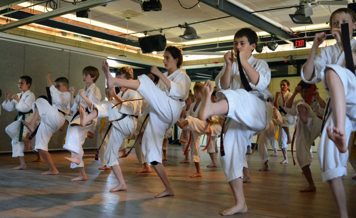 Rocky Mountain Karate Academy students performed an hour-long demonstration for family and friends Saturday at the Depot Arts Center under the instruction of karate legend Sensei Teruo Chinen.