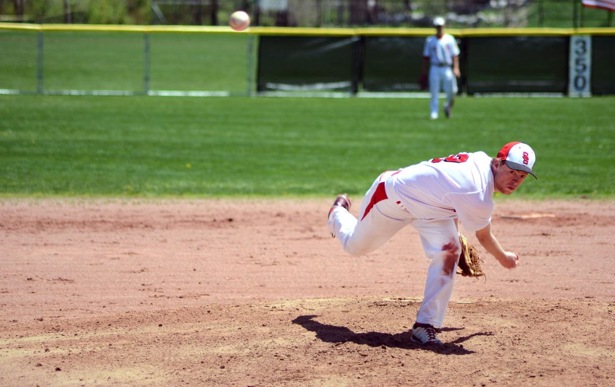 Steamboat pitcher Jesse Pugh tossed a complete-game five-hitter in the front half of Monday's doubleheader victories against Coal Ridge. Pugh had 10 strikeouts in the win.