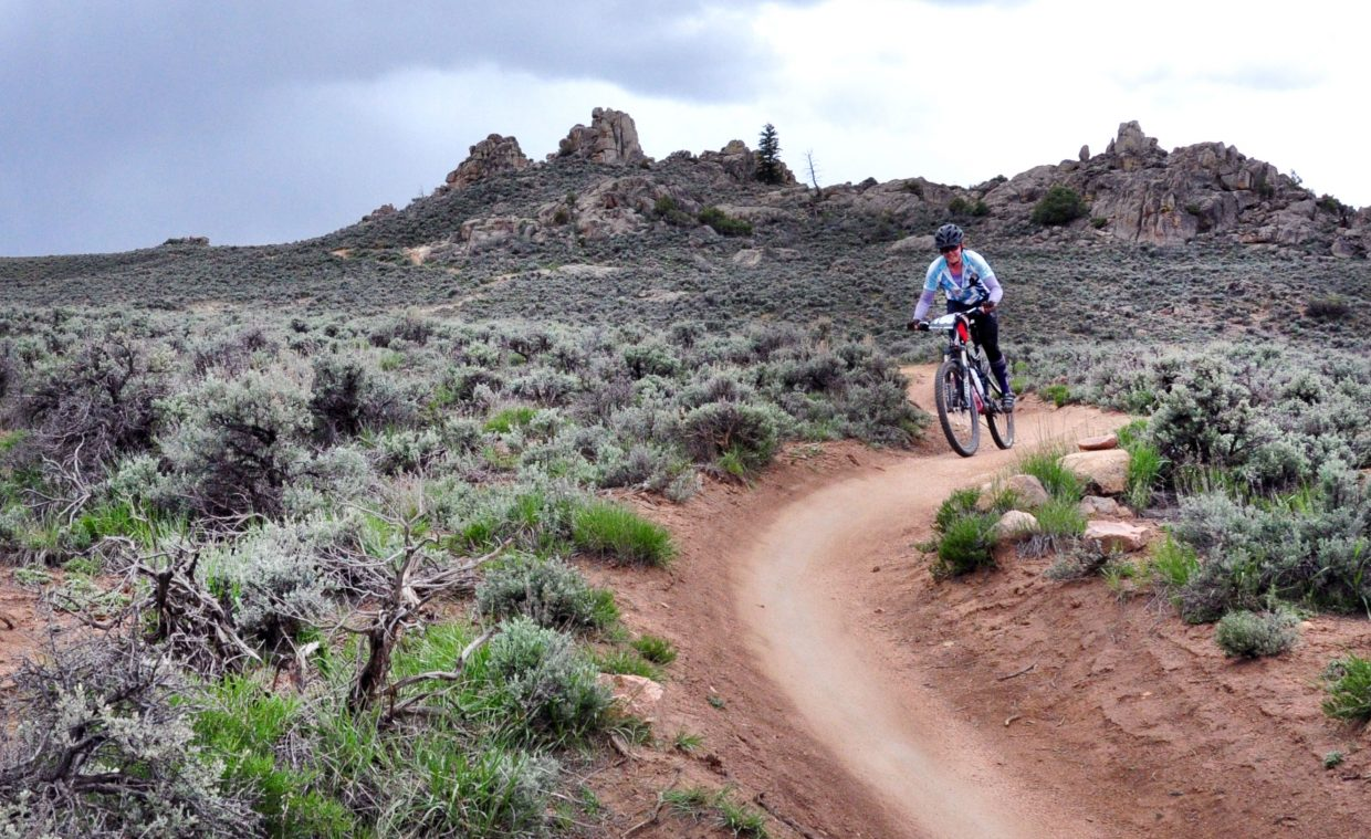 Steamboat's Emily Keiss, 25, took on the 64-mile Original Growler race on Sunday in Gunnison. Keiss was the youngest rider in the women's class, and finished in 7:42:46.
