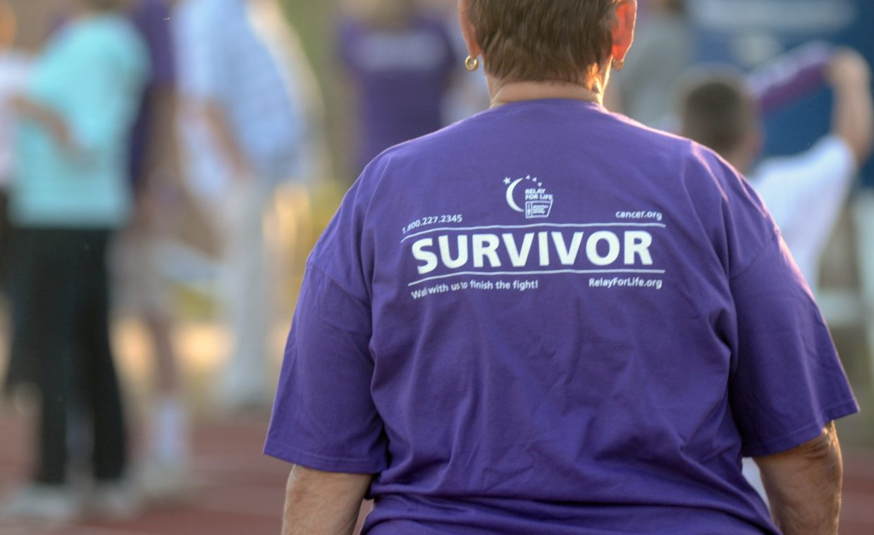 A hoard of purple shirts took the opening lap of the 2014 Steamboat Springs Relay for Life, symbolizing those who have fought and beaten cancer. Relay for Life 2015 will take place at 6 p.m. Friday at the Steamboat Springs High School. Registration for individuals and teams is still open.