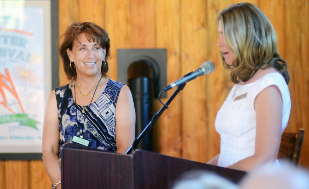Barbara Winternitz, left, and Boyd Bass, not pictured, were named the Yampa Valley Community Foundation's individual philanthropists of the year for their many roles as givers to organizations such as Steamboat Adaptive Recreational Sports.