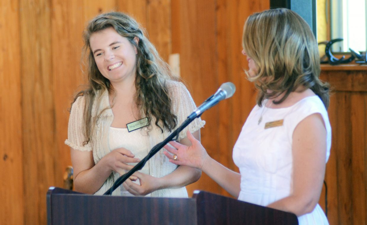Steamboat Springs High School graduate Meg O'Connell was honored as the Yampa Valley Community Foundation's youth philanthropist of the year. O'Connell is headed to the University of Colorado in the fall.