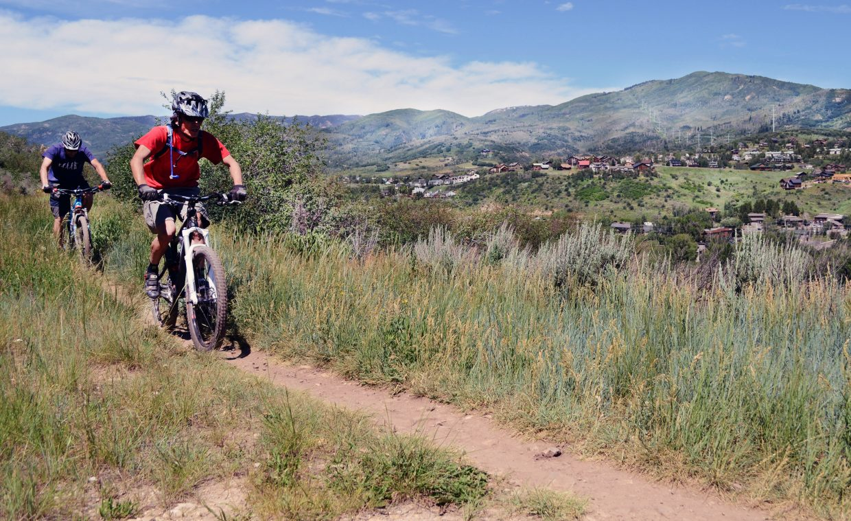The Bluffs Loop at the Emerald Mountain Trail system kicks off a gradual slope toward some big-time views of downtown Steamboat Springs and the Yampa Valley.