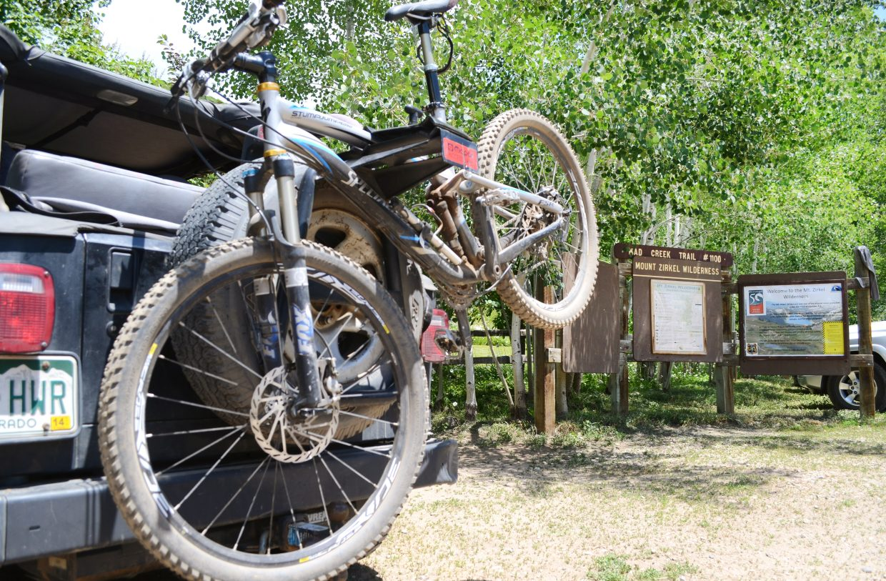 Mad Creek Trail offers an in-between option for riders wanting to break away from the easiest stuff, but not quite ready to tackle rough terrain.