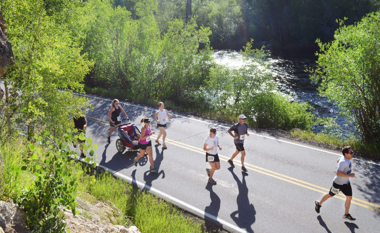 Runners in the Mountain Madness 10K were treated to sunrise views along the Yampa River Saturday morning for the sixth Steamboat Springs Running Series race of the season.