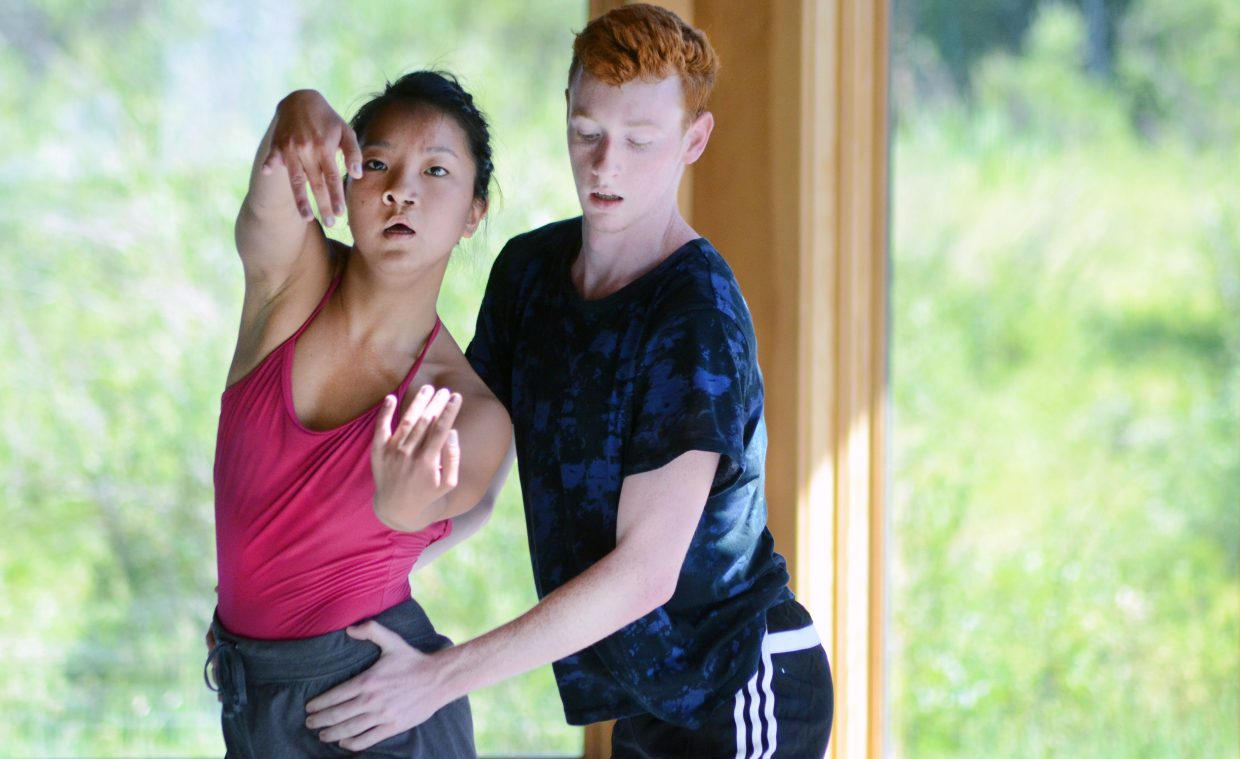 Annie Heath, left, and Jamie McGregor perform Sunday at Perry-Mansfield Performing Arts School and Camp's Steinberg Pavilion.