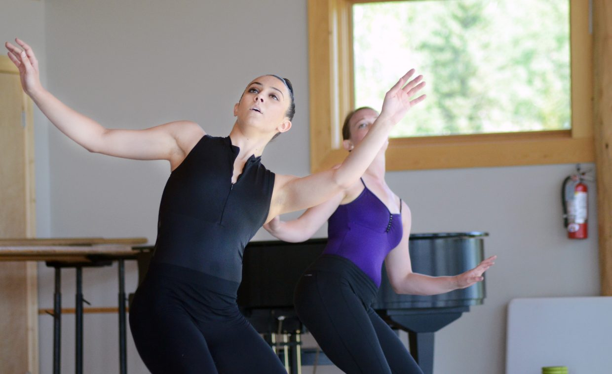 Perry-Mansfield Performing Arts School and Camp student-dancer Emily Davis performs a routine Sunday in the Steinberg Pavilion.