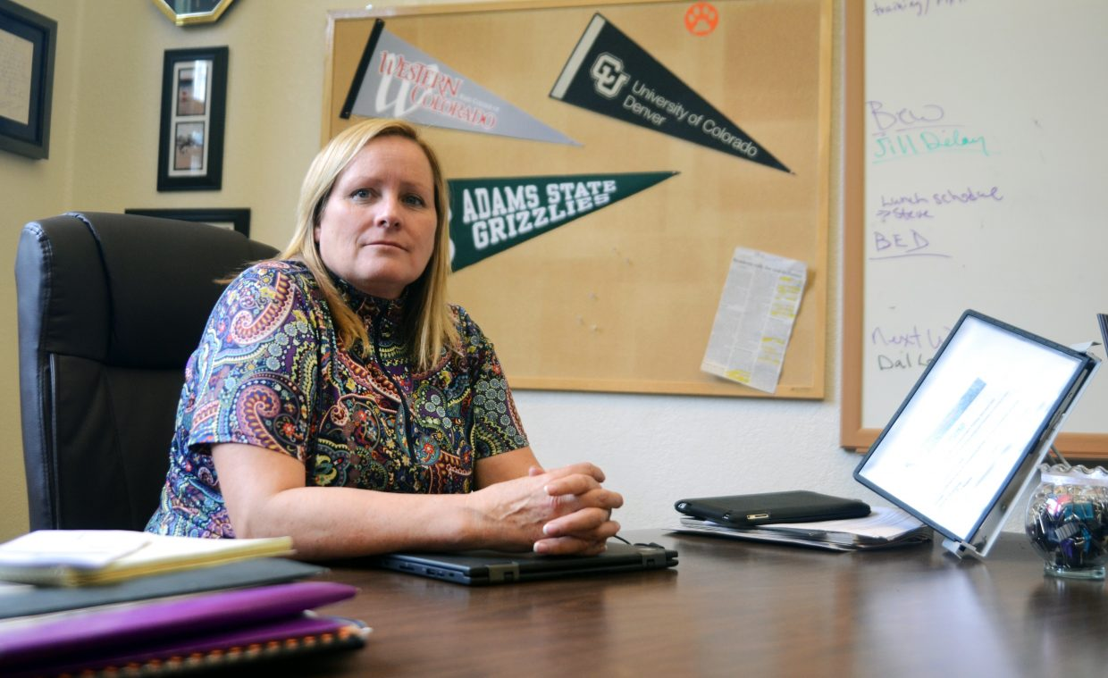 It took some serious remodeling, but new Hayden School District Superintendent Trudy Vader is enjoying her office and role.