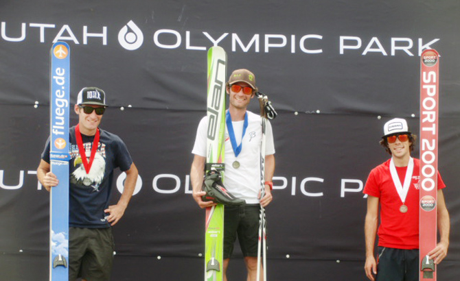 Bryan Fletcher (middle) won the senior men's Nordic combined competition at last weekend's 16th Annual Springer Tournee, beating out brother Taylor Fletcher and Brett Denney, who represented a one-two-three Steamboat finish.