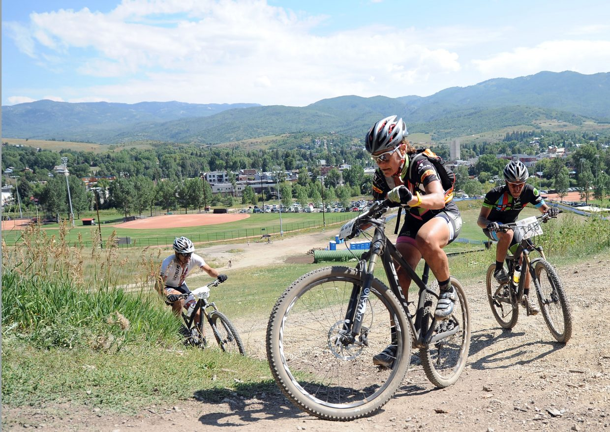 The fourth annual Steamboat Stinger is bringing nearly 600 mountain bikers and more than 250 runners to Emerald Mountain for the two-day race Saturday and Sunday. Cyclists will cover 50 miles of trails — mostly singletrack — and runners have a half or full marathon option.
