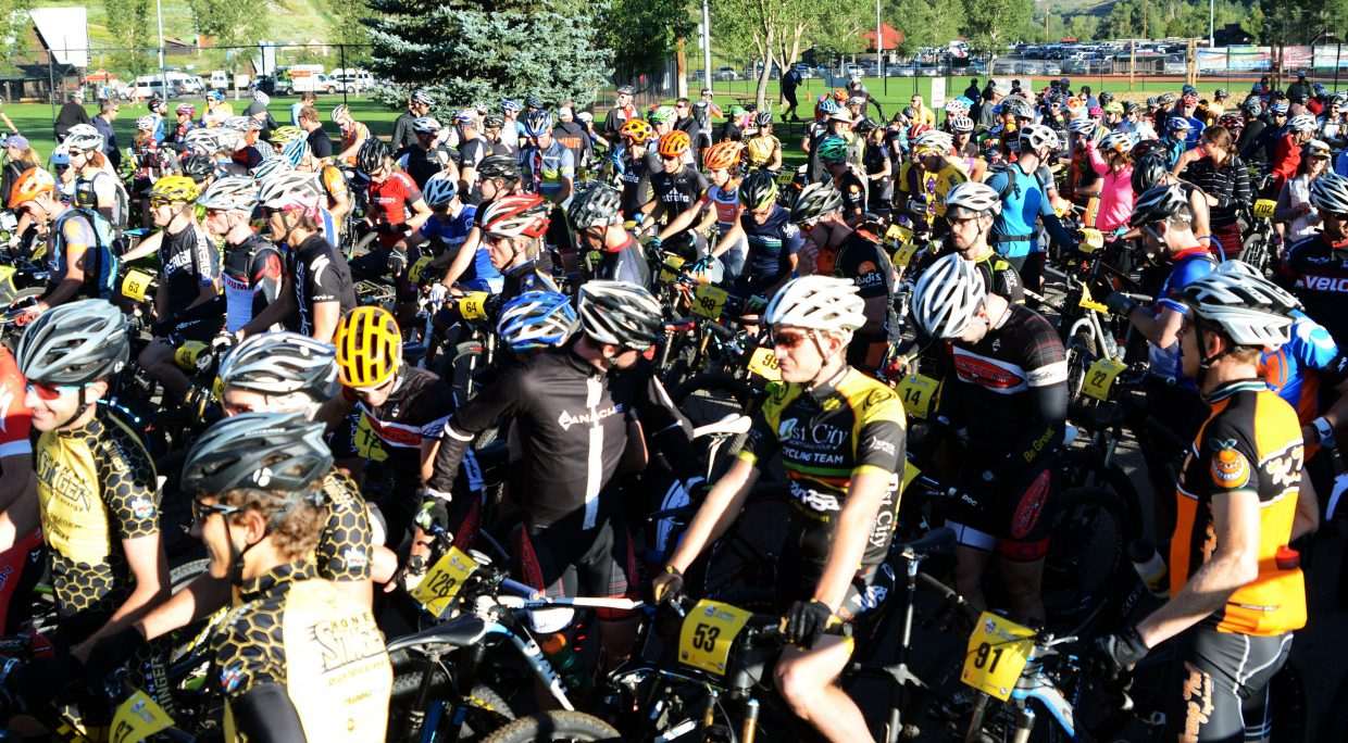 Hundreds of mountain bikers took part in the fourth annual Steamboat Stinger on Saturday at Emerald Mountain.