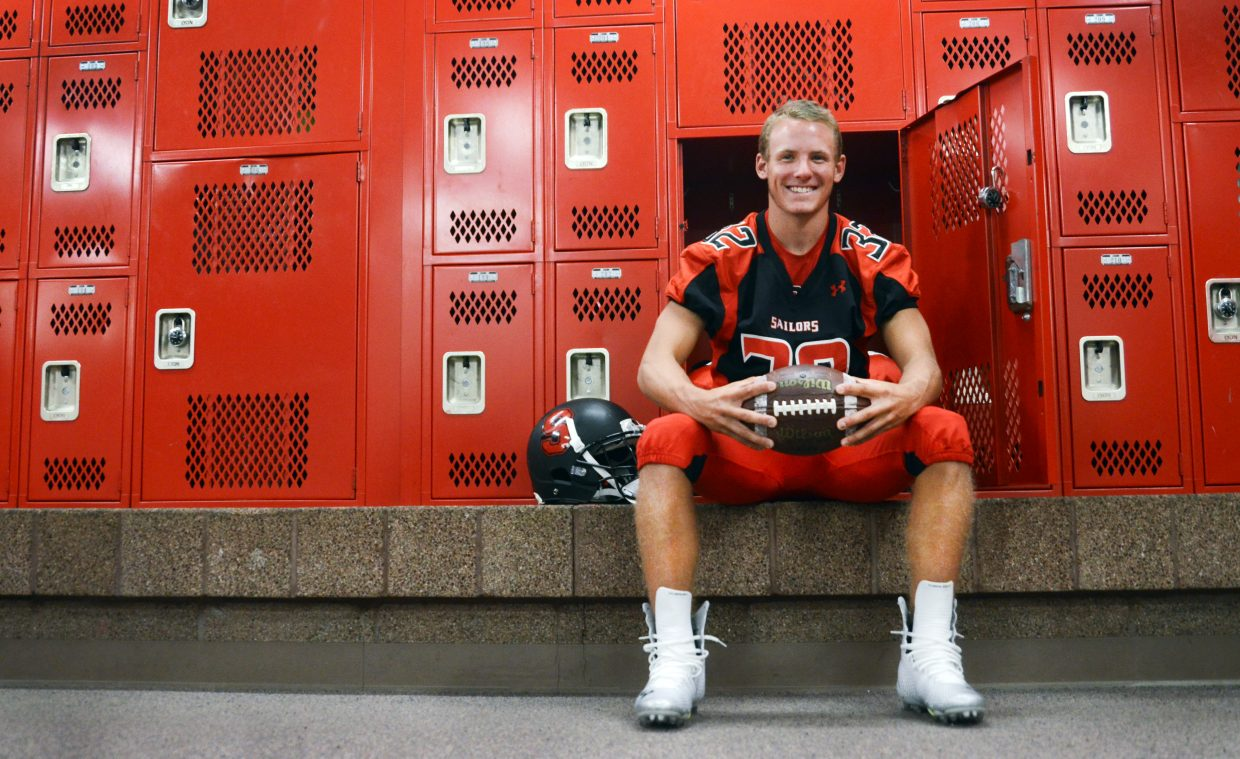 Steamboat senior Mitch McCannon accounted for 46 percent of the Sailors' yardage in 2013. He's looking for another huge season this fall — his last in Sailors red — after being voted a captain for the first time.