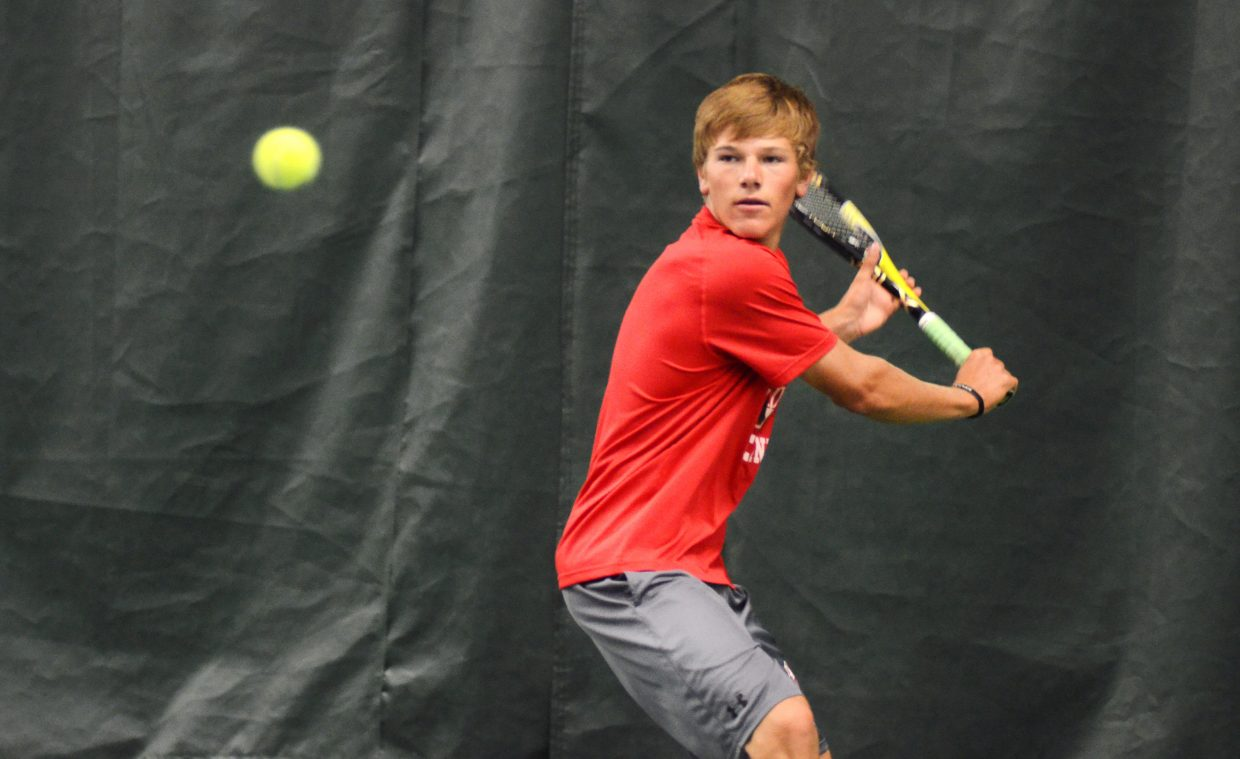 Steamboat Springs High School's Britt Walton is a newcomer to the Sailors program, but not to the sport of tennis. After a bit of recruiting from his friends and now teammates, Walton is doubling up this fall in golf and tennis and led the Sailors with a pair of victories in Saturday's home matches.