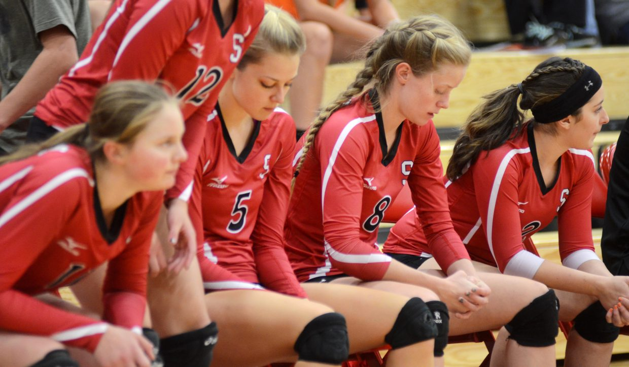 The Steamboat Springs High School volleyball bench was somber after the Sailors' 3-0 loss to No. 6 Montrose on Saturday.