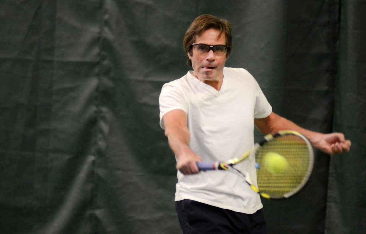 Pete Woolverton, pictured, and doubles partner Kevin Cerone won the men's 3.5 division.