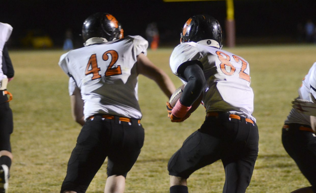 Hayden seniors Taylor Lewis, No. 42, and Tanner Guire, No. 82, each garnered postseason recognition. Lewis was a first-team all-league linebacker and an honorable mention offensive lineman. Guire was an honorable mention defensive back. Tigers sophomore Christian Carson was also on the first team as an offensive lineman.