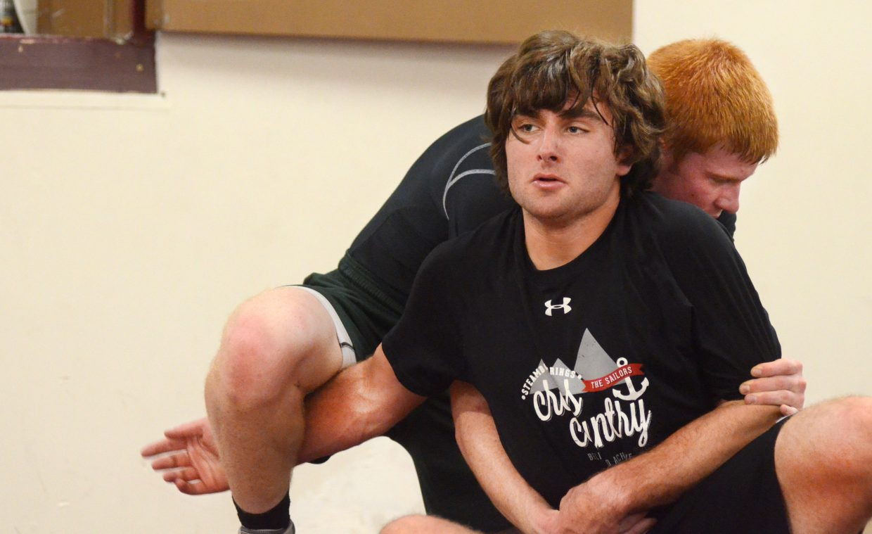 Steamboat Springs High School wrestler Dylan Wallace is the Sailors' lone senior on roster this winter. Steamboat may not be able to build much around seniors, but new coach Travis Bryant expects the young team's work ethic will help build future champions.