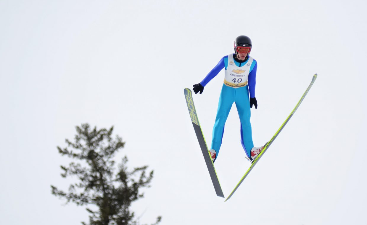 U.S. Ski Team's Jasper Good finished third in the HS-100 Nordic combined senior class jumping portion and skied his way to a second-place finish overall in Saturday's Rocky Mountain Division Winter Start at Howelsen Hill.